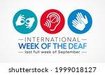 international week of the deaf... | Shutterstock .eps vector #1999018127