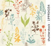 pattern with medicinal plants | Shutterstock .eps vector #199904354