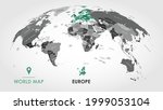 detailed global world map  with ... | Shutterstock .eps vector #1999053104