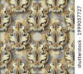 3d gold baroque seamless... | Shutterstock .eps vector #1999057727