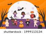set of halloween kids costume... | Shutterstock .eps vector #1999113134