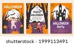 set of halloween posters ... | Shutterstock .eps vector #1999113491