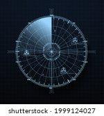 radar screen in futuristic hud...