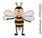 bee illustration | Shutterstock . vector #199913051