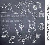 halloween decoration elements   ... | Shutterstock .eps vector #199913534