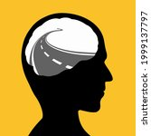 human head with a road inside.... | Shutterstock .eps vector #1999137797