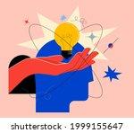 creative mind or brainstorm or... | Shutterstock .eps vector #1999155647