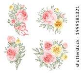 flower arrangement and bouquet...   Shutterstock .eps vector #1999181321
