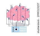 encephalography brain procedure ... | Shutterstock .eps vector #1999215257