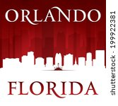 Orlando Florida city skyline silhouette. Vector illustration - stock vector