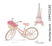 bicycle with a basket of... | Shutterstock .eps vector #199923185