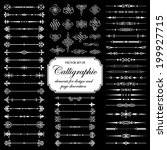 vector set of calligraphic... | Shutterstock .eps vector #199927715