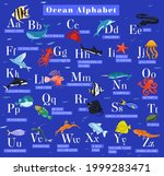 sea animals alphabet. abc for... | Shutterstock .eps vector #1999283471