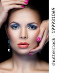 closeup portrait of woman with... | Shutterstock . vector #199931069
