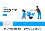 little kids watering plant in...   Shutterstock .eps vector #1999334507