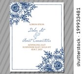 wedding invitation cards with...   Shutterstock .eps vector #199933481