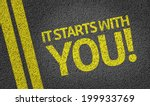 it starts with you  written on... | Shutterstock . vector #199933769