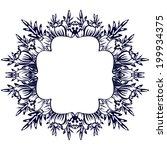 monochrome element to design... | Shutterstock .eps vector #199934375