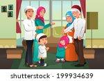 a vector illustration of happy...   Shutterstock .eps vector #199934639