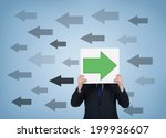 a businessman holding a poster... | Shutterstock . vector #199936607