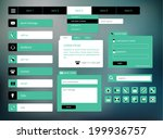 modern black and green web ui...