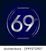 69th anniversary. sixty nine...   Shutterstock .eps vector #1999372907