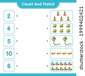 count and match  count the... | Shutterstock .eps vector #1999402421