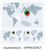 magnified saint kitts and nevis ... | Shutterstock .eps vector #1999432967