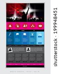 website template with music... | Shutterstock .eps vector #199948451