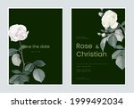 floral wedding invitation card... | Shutterstock .eps vector #1999492034