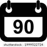 three months icon on white... | Shutterstock .eps vector #1999522724