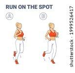 girl doing jogging exercise... | Shutterstock .eps vector #1999526417