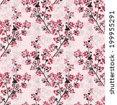 elegant seamless pattern with... | Shutterstock .eps vector #199955291