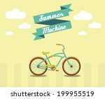 summer bicycle. bike is best... | Shutterstock . vector #199955519