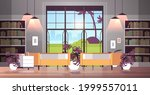modern open space empty nobody... | Shutterstock .eps vector #1999557011