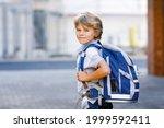 Happy Little Kid Boy With...