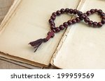 image of wooden rosary beads... | Shutterstock . vector #199959569