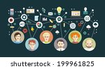 mind map team   illustration | Shutterstock .eps vector #199961825