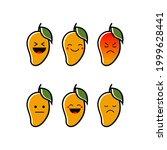 mango emotion reaction icon... | Shutterstock .eps vector #1999628441