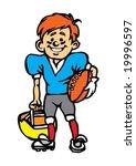 american football kid | Shutterstock .eps vector #19996597