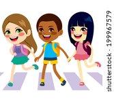 three cute little children... | Shutterstock . vector #199967579