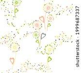 dandelion flowers unusual... | Shutterstock .eps vector #1999687337