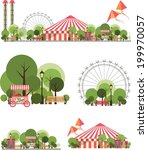 urban amusement park circus...   Shutterstock .eps vector #199970057