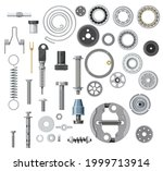 isolated bolt  screw  nut and... | Shutterstock .eps vector #1999713914