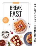 promo flyer with pancakes ...   Shutterstock .eps vector #1999718411