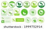 set of vegan badges icons.... | Shutterstock .eps vector #1999752914