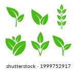 set of leaf plant icons.... | Shutterstock .eps vector #1999752917