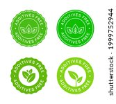 set of additives free icon... | Shutterstock .eps vector #1999752944