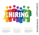 we are hiring minimalistic...   Shutterstock .eps vector #1999764521