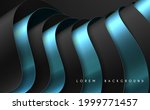 abstract black and blue folded... | Shutterstock .eps vector #1999771457